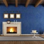 Blue vintage interior — Stock Photo #12777967