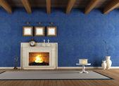 Blue vintage interior — Stock Photo