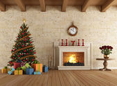 クリスマスを待ちながら — ストック写真