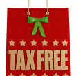 Tax free christmas shopping bag — Stock Photo