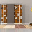 Empty living room with bookcase — Stock Photo #17146569