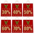 Christmas  Shopping Bags with discounts — Stock Photo