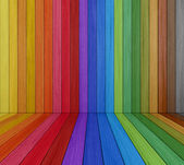 Multi colored Wooden Room — Stock Photo