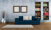 Vintage room with modern couch — Stock Photo