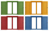 Colorful windows — Stock Photo