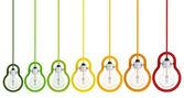 Energiebesparing multicolor gloeilamp — Stockfoto