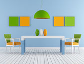 Colorful modern diningroom — Stock Photo