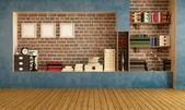 Empty retro living room — Stock Photo
