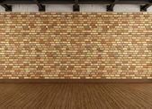 современные гранж интерьер с кирпичной стены — Стоковое фото