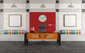 Colorful office in a loft — Stock Photo
