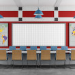 Red and blue Meeting room — Stock Photo #28054191