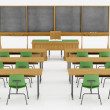 Classroom without student on white — Stock Photo