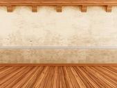 Leeg interieur met grunge wal — Stockfoto