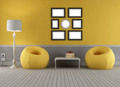 Yellow and grey old interior — Stock Photo