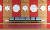 Contemporary waiting room — Stock Photo