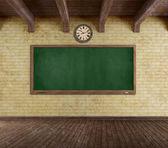 Grunge empty classroom — Stock Photo