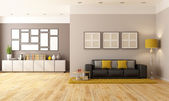 Contemporari living room — Stock Photo