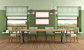 Jídelna zelený — Stock fotografie