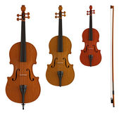 Double bass, viola and violin — Stock Photo