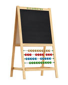 Blackboard with abacus — Photo