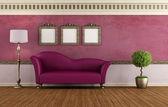 Purple vintage room — Stock Photo