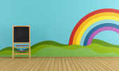 Playroom with blackboard — Stock Photo
