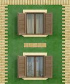 Gröna gamla hus — Stockfoto