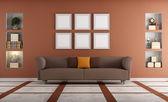Modern sofa in a elegant interio — Stock Photo
