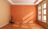 Orange empty room — Stock Photo