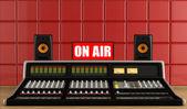 Professional audio mixer in a recording studio — Stock Photo