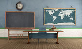 Retro classroom without student — Stock Photo