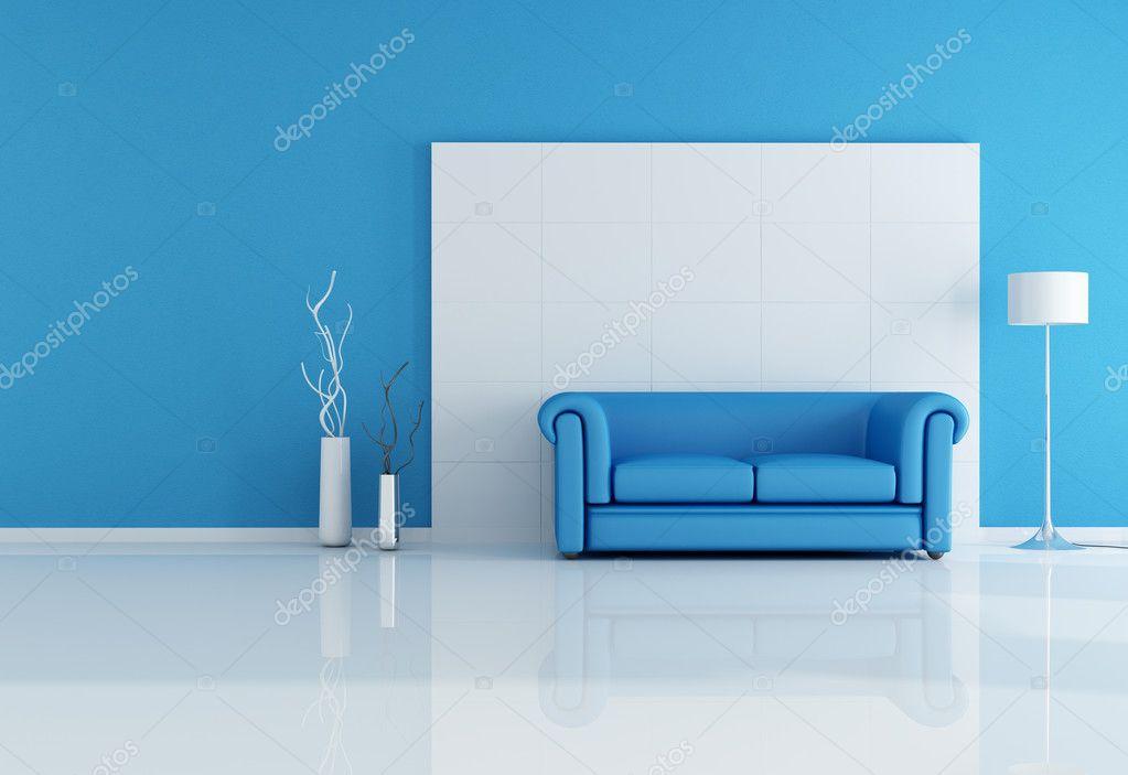 淡蓝色欧式沙发