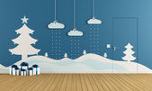 Playroom with christmas decoration  — Foto de Stock