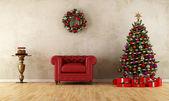 Elagant habitación con decoración de navidad — Foto de Stock