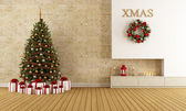Christmas lounge — Foto Stock