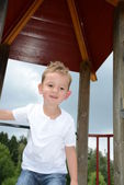 Portrait Boy on Playground — Stock Photo