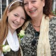 Happy smiling young woman and her mother - Portrait - — Stock Photo #15439789
