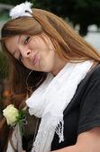 Cheeky - Youth romantic portrait — Stock Photo