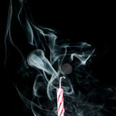 Smoke and Candle — Stock Photo
