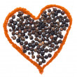 Stock Photo: Spices Heart