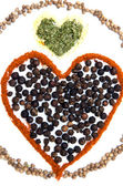 Spices Heart — Stock Photo