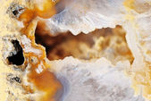 Natural brown agate with crystals — Stock Photo