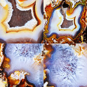 Set of Agate — Stock Photo