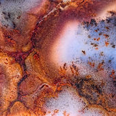 Moss Agate with crack — Stock Photo