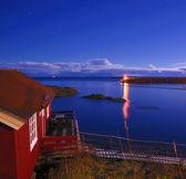 ночь лофотенских островов — Стоковое фото