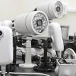CCTV cameras pre-wired - Stock Photo