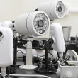 CCTV cameras pre-wired - Stockfoto