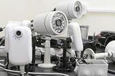 предварительно проводные камеры видеонаблюдения — Стоковое фото