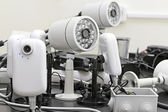 CCTV cameras pre-wired — Stock Photo