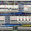 Electrical panel with fuses closeup — Stock Photo #13818581